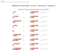 Addition: Visual Math - Level 1 - Exercise 8 - Option 2 Interactive