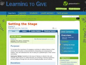 Setting the Stage Lesson Plan