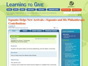 Squanto Helps New Arrivals Lesson Plan