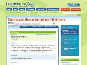 Dancing and Singing Through the Bill of Rights Lesson Plan