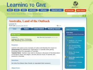 Australia, Land of the Outback Lesson Plan