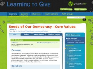 Seeds of Our Democracy - Core Values Lesson Plan