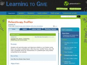 Philanthropy Profiler Lesson Plan