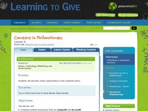 Careers in Philanthropy Lesson Plan