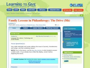 Family Lessons in Philanthropy: The Drive Lesson Plan