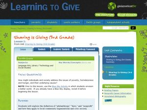 Sharing is Giving-The Drive Lesson Plan