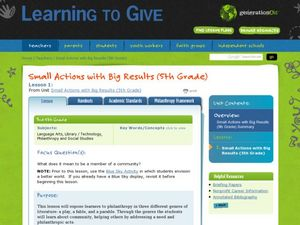 Small Actions with Big Results Lesson Plan