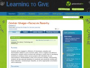 Center Stage—Focus on Poverty Lesson Plan