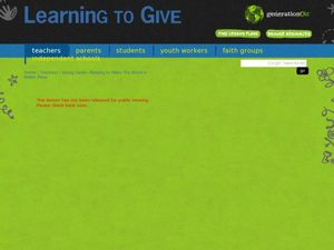 The Giving Game Lesson Plan