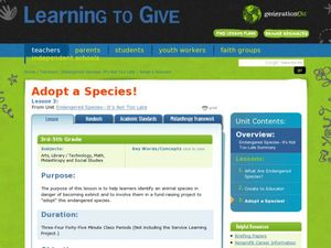 Adopt a Species! Lesson Plan