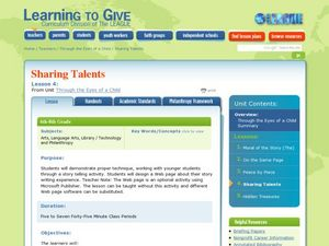 Sharing Talents Lesson Plan