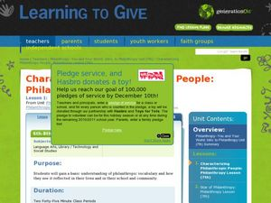 Characterizing Philanthropic People Lesson Plan