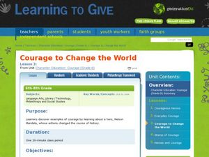 Courage to Change the World Lesson Plan