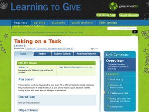 Taking on a Task Lesson Plan