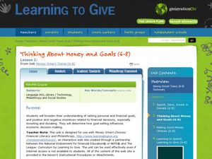 Money Smart Teens Lesson Plan