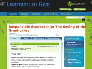 Responsible Stewardship: The Saving of the Great Lakes Lesson Plan
