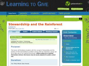 Stewardship and the Rainforest Lesson Plan