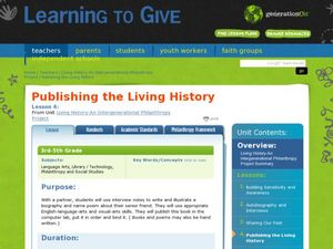 Living History- An Intergenerational Philanthropy Lesson Plan