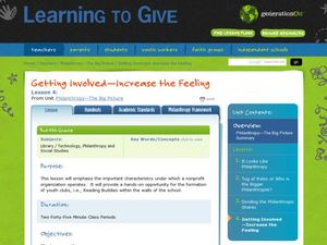 Getting Involved: Increase the Feeling Lesson Plan
