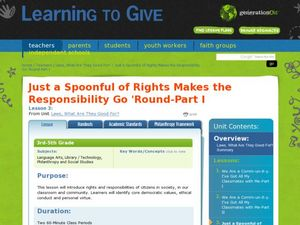 Just a Spoonful of Rights Makes the Responsibility Go 'Round Lesson Plan