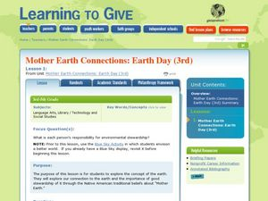 Mother Earth Connection: Earth Day Lesson Plan