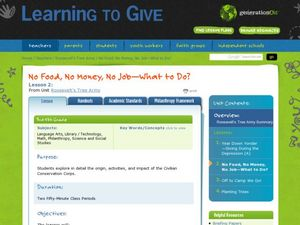 No Food, No Money, No Job: What to Do? Lesson Plan