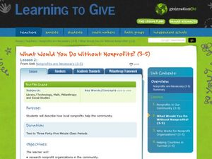 What Would You Do Without Nonprofits? Lesson Plan