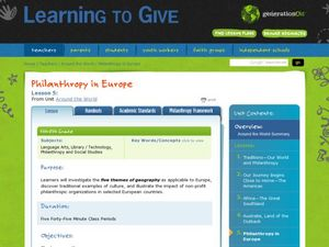 Around the World: Philanthropy in Europe Lesson Plan