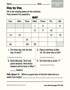 Day by Day Worksheet