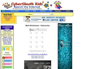 Math Practice: Subtraction 5 Lesson Plan