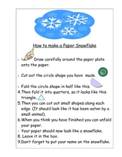 How to Make a Paper Snowflake Worksheet