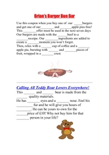 Adjectives and Advertisements Worksheet