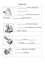 Making Toast Worksheet