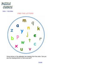 Missing Letters Puzzle Worksheet