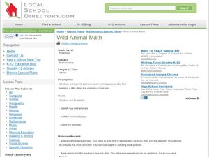Wild Animal Math Lesson Plan