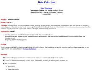 Data Collection Lesson Plan