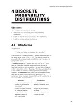 4 Discrete Probability Distributions Lesson Plan
