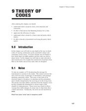 Theory of Codes Lesson Plan