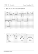 Similarity Worksheet