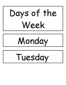 Days Of The Week Printables Template