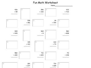 Fun Math 39 Worksheet