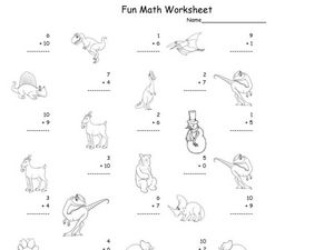 Simple Addition Practice: 1-10 Worksheet