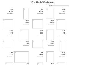 Fun Math Worksheet 26 Worksheet