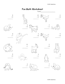 Fun Math Worksheet 58 Worksheet