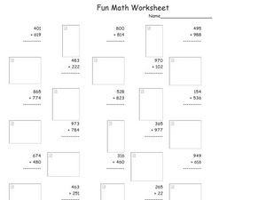 Fun Math Worksheet 7 Worksheet