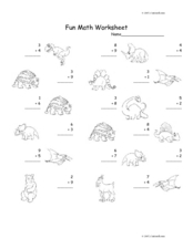Fun Math Worksheet: Addition Facts 3 Worksheet