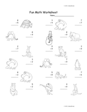 Addition: Numbers 1-10 #2 Worksheet