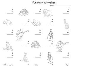 Fun Math Worksheet: Addition Facts 4 Worksheet
