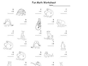 Adding Numbers 1-10 #4 Worksheet