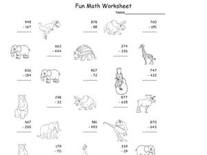 Fun Math Worksheet 35 Worksheet